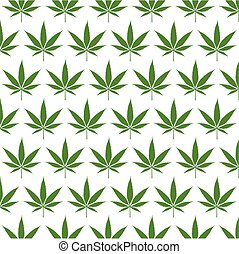 Cannabis leaf and Texture. Vector illustration and icon.