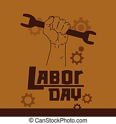 Hand Hold Spanner Wrench International Labor Day May Holiday...