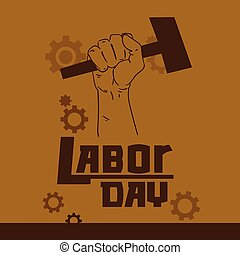 Hand Hold Hammer Labor Day May Holiday - Hand Hold Hammer...