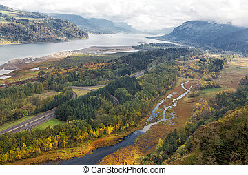 Columbia River Gorge in Fall