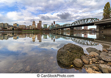 City of Portland Oregon Reflection