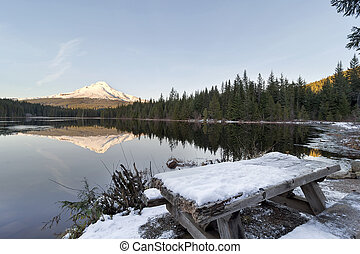 Mount Hood Reflection on Trillium Lake