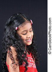 Shy Indian Girl - A portrait of a shy Indian girl