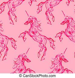Pink unicorn pattern - Pink unicorn. Smoke texture pattern....