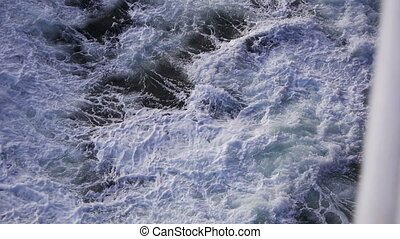 Wild water of the North Sea - Rough waters in the North Sea...