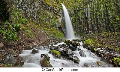 Long exposure Dry Creek Falls Or - High definition movie of...