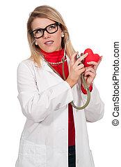 Beautiful Woman Cardiologist - Beautiful young woman...