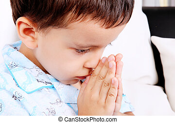 Pray - Child with his hands in prayer position