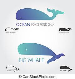 azul, logotipos, conceito, peixe, simples, jogo, logotype,...