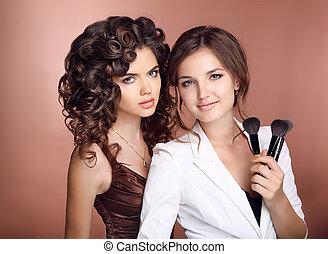 Beauty make-up artist. Hair. Makeup