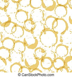 Seamless pattern with wine stains.