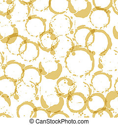 Seamless pattern with wine stains. - Seamless pattern with...