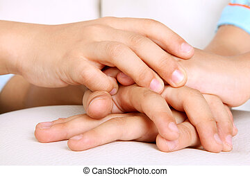 Union - Hands of children, concepts of solidarity and...