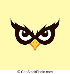 spooky owl illustration theme - cool spooky owl theme vector...