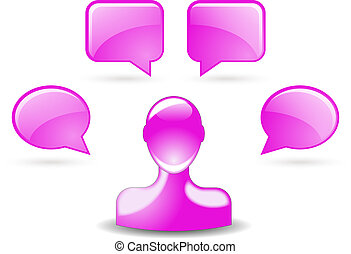 user comments by buddy icon in pink