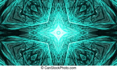 Blue Kaleidoscopic Geometric Loop - Animated Blue...