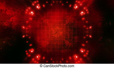 Looping Red Science fiction VJ BG - Animated Looping Red...