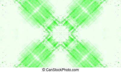 Green and white center focused loop - Animated Green and...