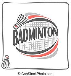 Badminton theme - Abstract image on the badminton theme