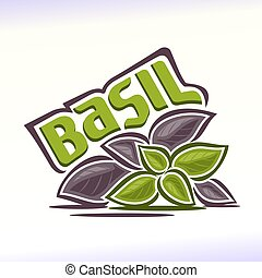 Basil - Vector illustration on the theme of the logo for...