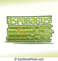 Asparagus - Vector illustration on the theme of the logo for...