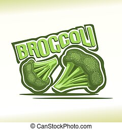 Broccoli - Vector illustration on the theme of broccoli