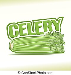 Celery - Vector illustration on the theme of celery