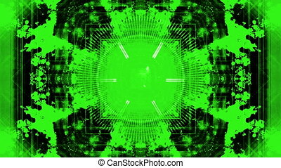 Sci-Fi Machine Green loop - Abstract Science fiction Machine...