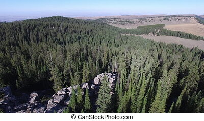 High Park Lookout - Flying over High Park Lookout in Bighorn...