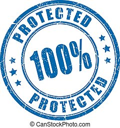 100 protection rubber stamp