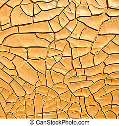 Old dry cracked surface, abstract background