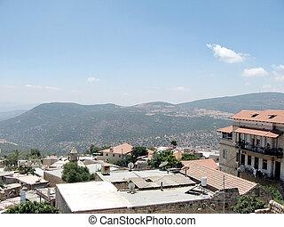 Safed, viejo, ciudad, el, techos, 2008,