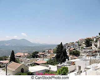 Safed the panorama 2008 - Safed is a very spiritual and...