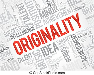 Originality word cloud, business concept