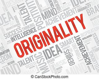 Originality word cloud, business concept