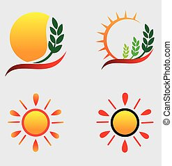 Sun Logos - Full vectors, this logo can be easily re size...