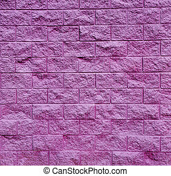 Bodacious Purple Cinder Block Wall - Square shot of a purple...