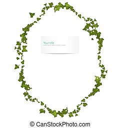 Vector spring frame with ivy