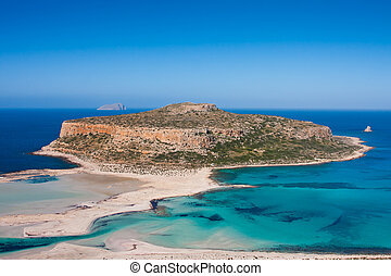 Balos Beach - Landscape at Balos Beach in Crete, Greece.