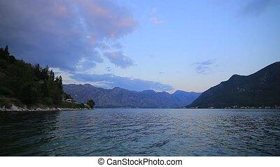 Bay of Kotor in Montenegro The view from the town of Perast