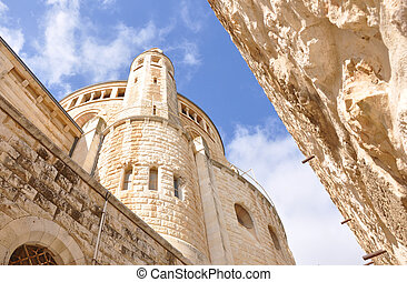 Dormition Abbey. Armenian Quarter, Jerusalem Old City.