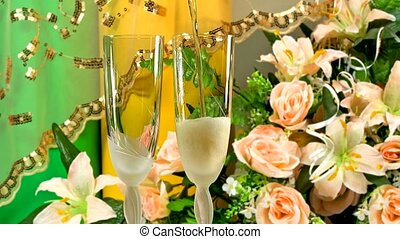 Champagne - Two glasses with champagne
