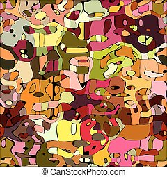 Abstract color mosaic animals vector pattern