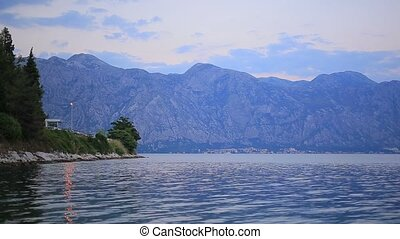 Bay of Kotor in Montenegro. The view from the town of Perast