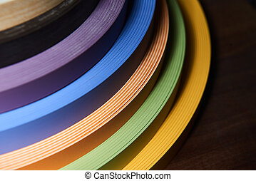 set of colored thermoplastic edges - edges consist of...