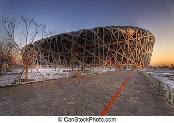 beijing olympic stadion bird\'s nest