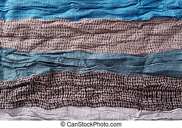Striped scarf fabric background