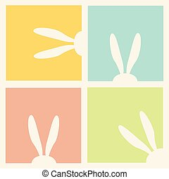Easter holiday pattern - Easter eggs and rabbit, Happy...