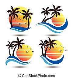 Summer label - Summer holidays design Labels,...