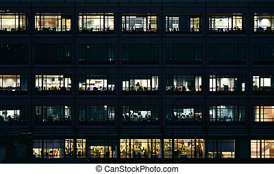 empty offices at night